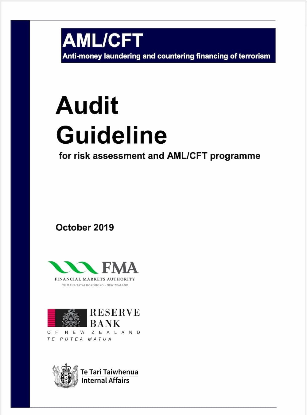 Audit Guideline - Risk Assessment and AML Programme