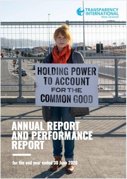 Transparency International NZ Annual Report (2019 - 2020)