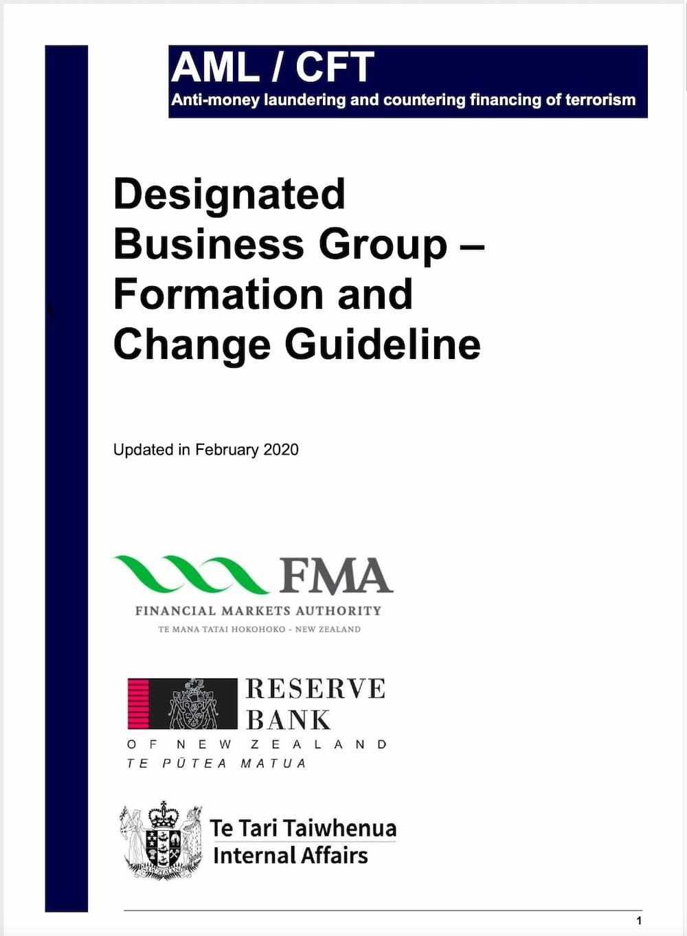 Designated Business Group Formation Guidelines