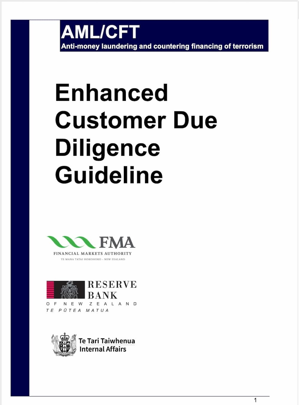Enhanced Customer Due Diligence Guideline