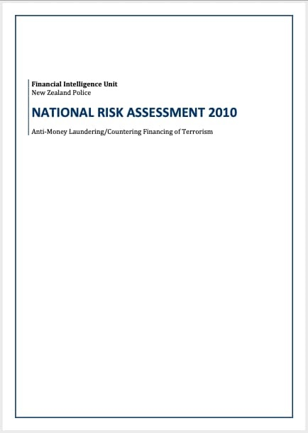Inaugural FIU National Risk Assessment (2010)