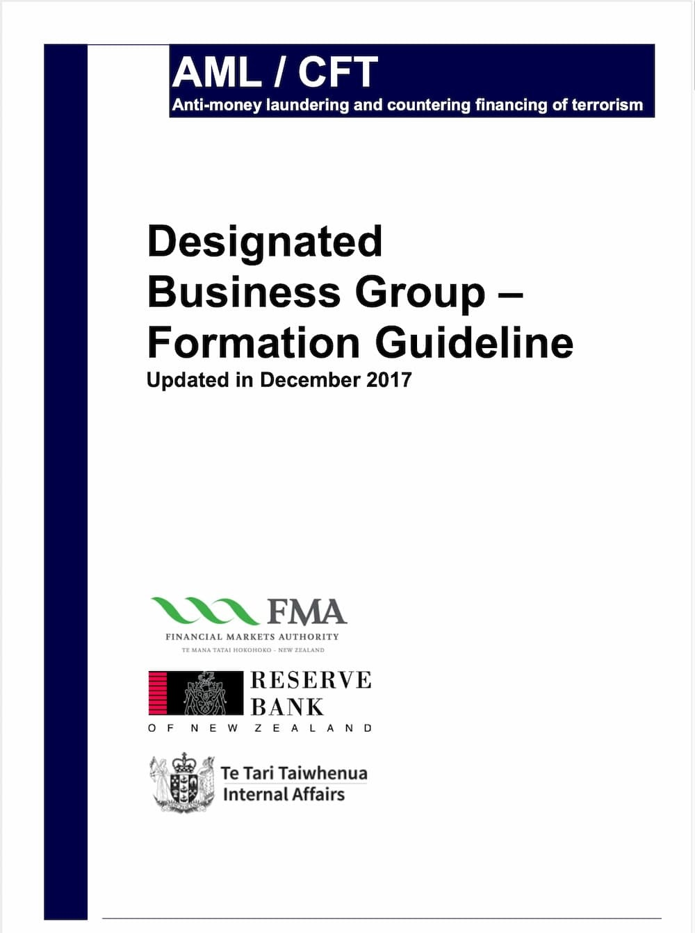 Designated Business Group Formation Guideline