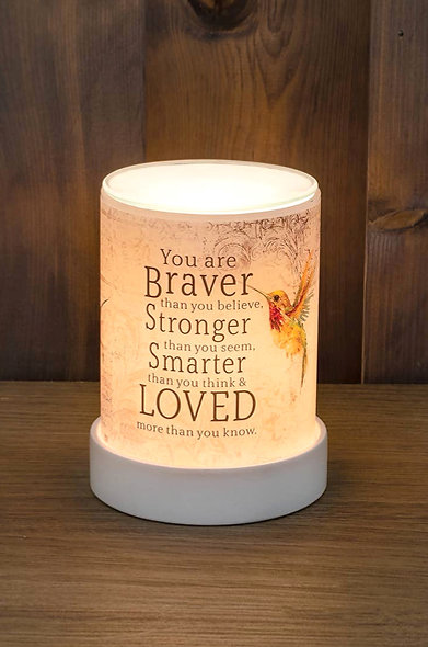 """You are braver than you believe"" Wax Warmer"