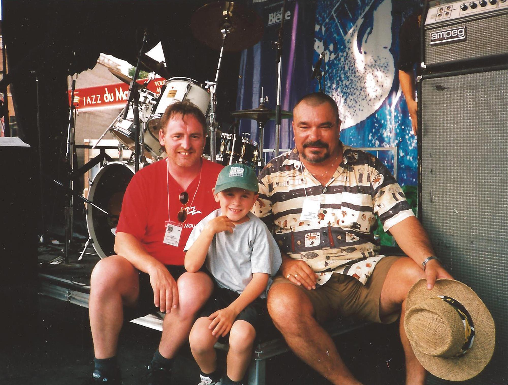 Avec Bob Harrisson et mon fils FIJM