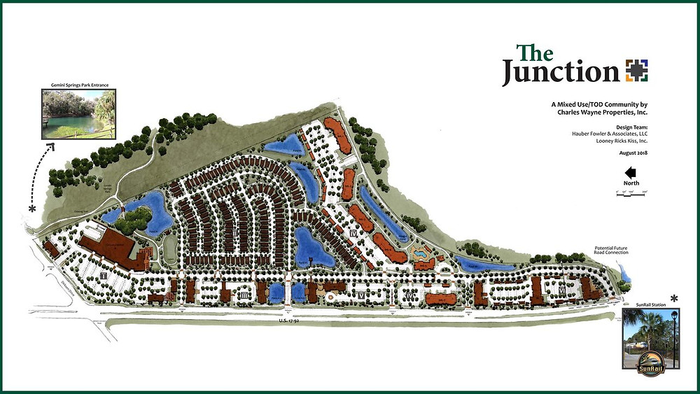 Junction at DeBary Station site plan