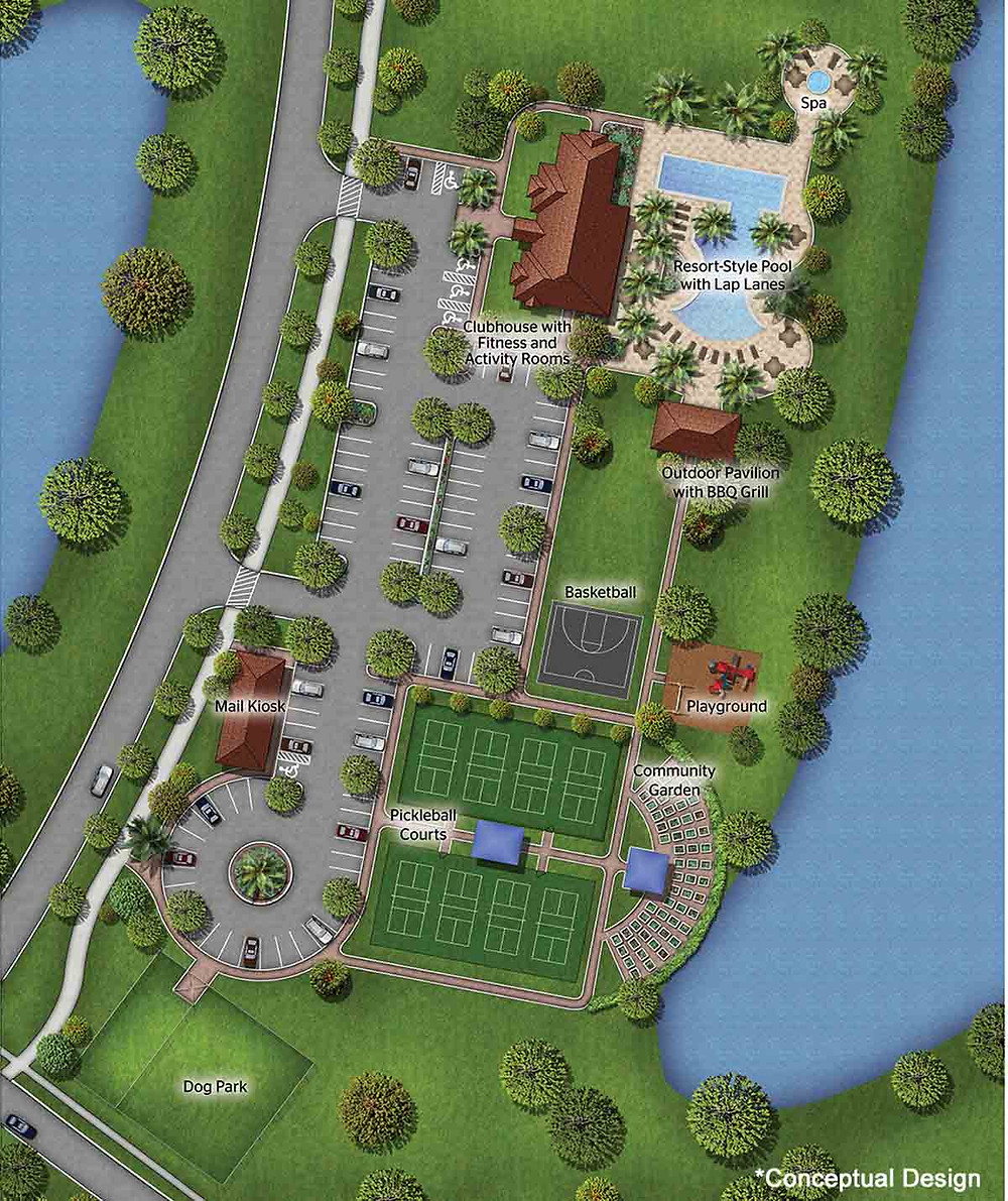 Artist's rendering of the site of IslandWalk's planned 2nd amenity center