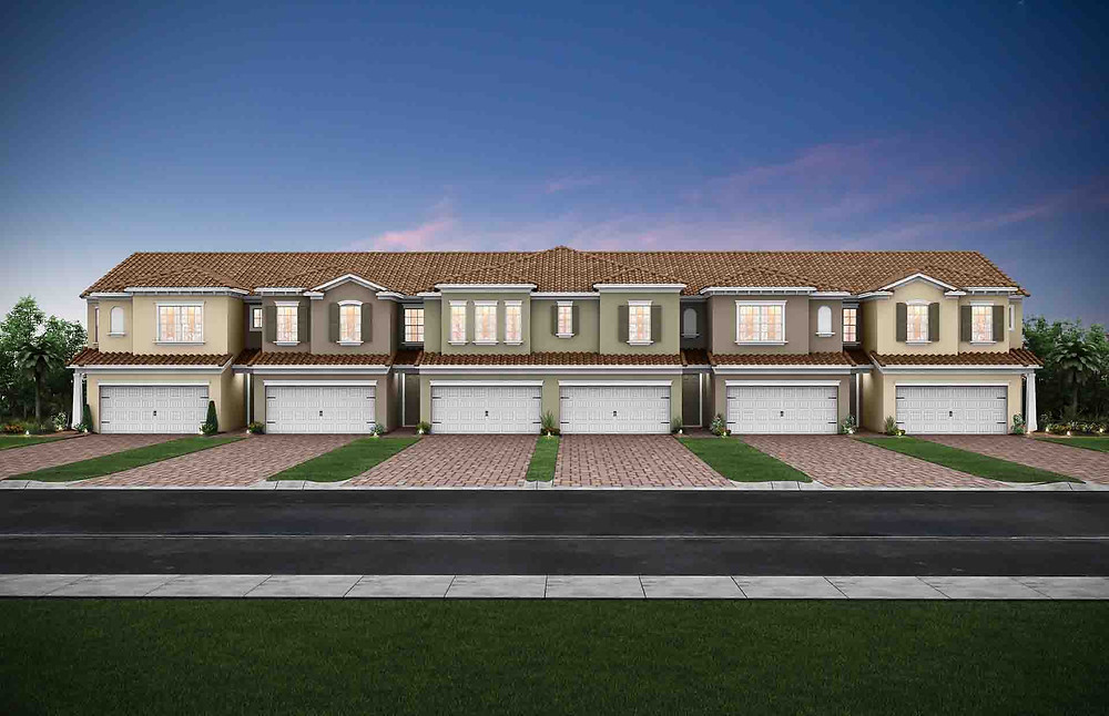 Artists rendering of Pulte Homes' Hammock Cove Townhomes in Gateway opening in early 2019