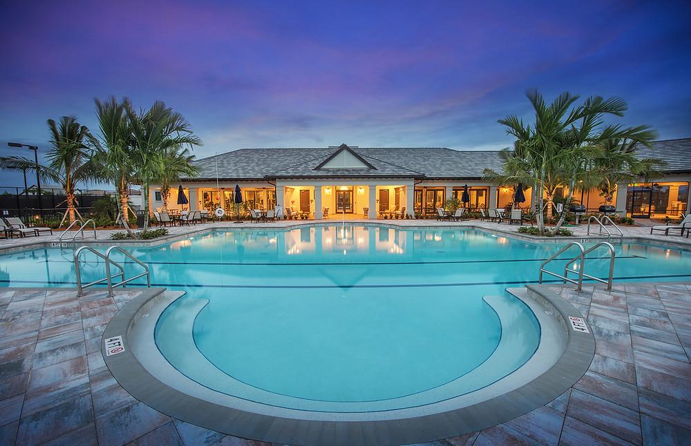 New Resort style pool at Hammock Preserve on Palmer Ranch