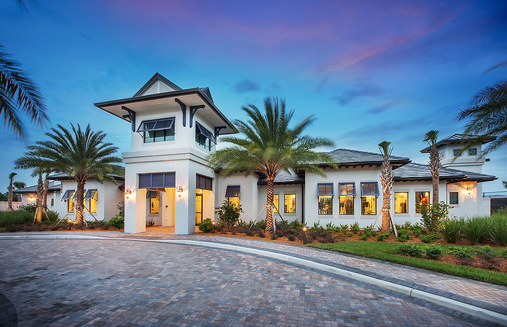 Newly completed clubhouse at Hammock Preserve on Palmer Ranch.