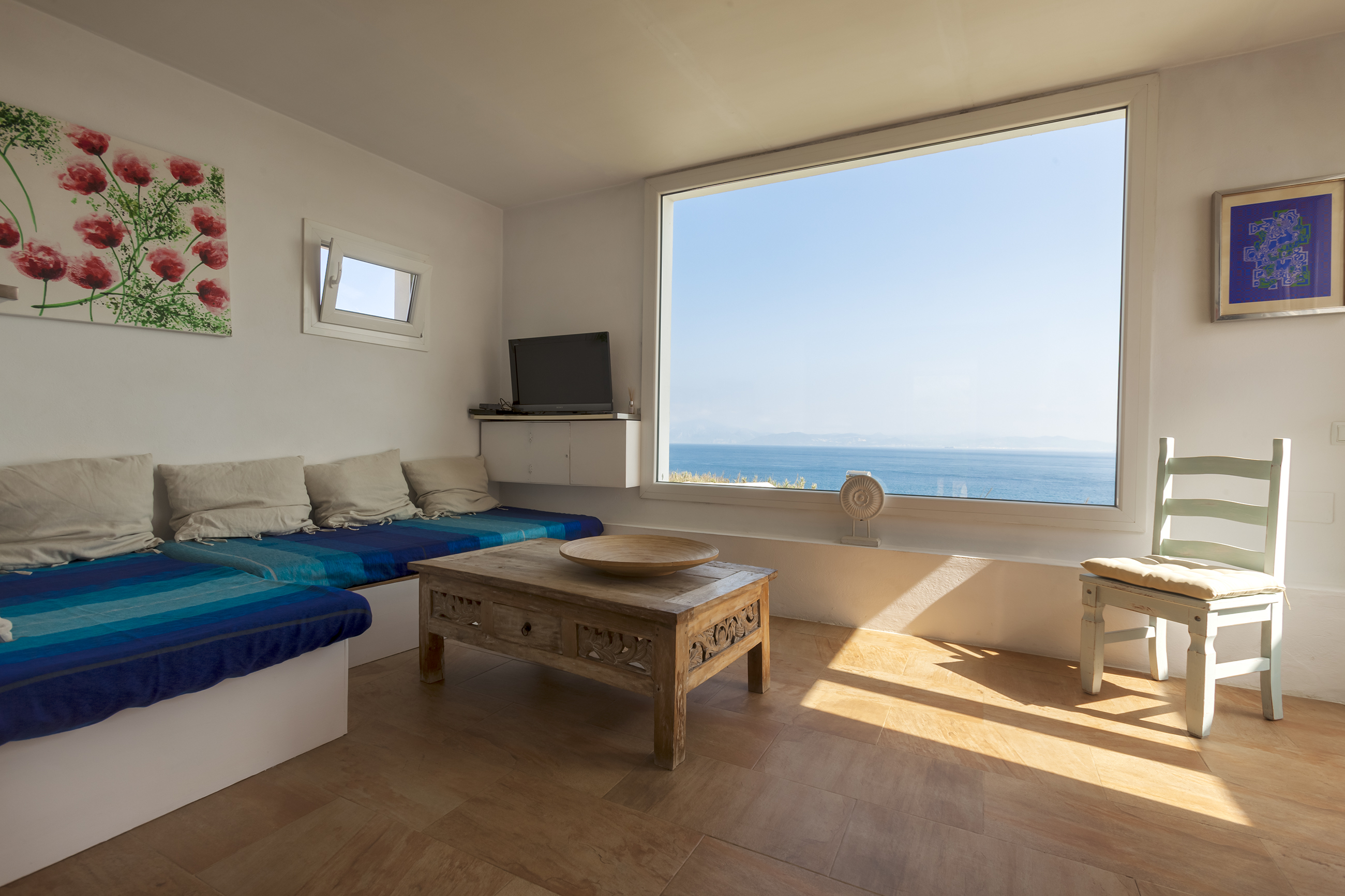 Sea views from the living room