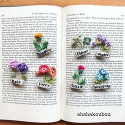 植物図鑑のブローチ