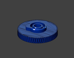 3D модель шестерни заднего дворника