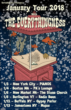 Everythingness January Tour Poster