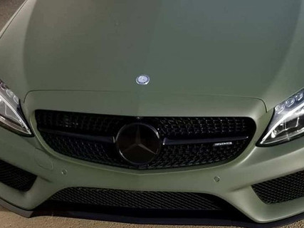 Mercedes Matte Green vinyl wrap