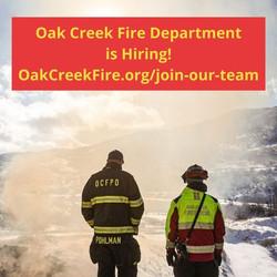 Oak Creek FD Hiring for Multiple Positions