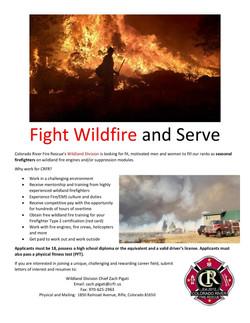 Colorado River Fire Rescue Needs Seasonal Wildland Firefighters