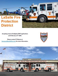 LaSalle Fire Protection District is Accepting Applications!