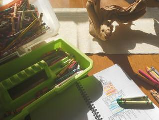 Sneaking Crayons