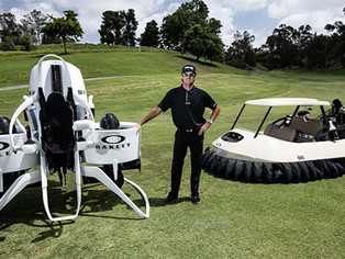 Bubba Watson and Oakley Introduce the World's First Golf Cart Jetpack