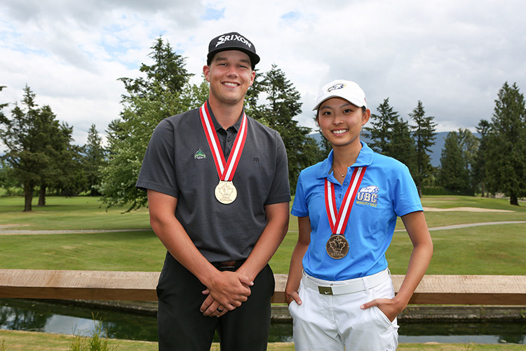 Daniel Campbell & Avril Li. Photo Credit: Chuck Russell/Golf Canada