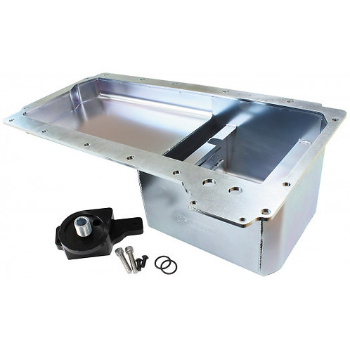 Fabricated LS Rear Sump Conversion Oil Pan - Holden HQ-WB With Oil Filter