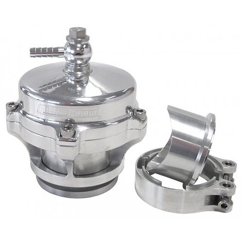 50mm Blow Off Valve with Weld-on Flange and V-Band - Polished Finish