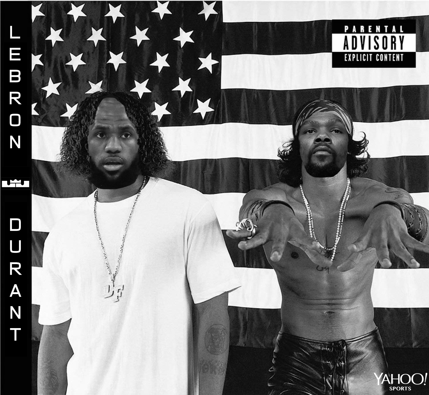 LeBron & KD Album Covers