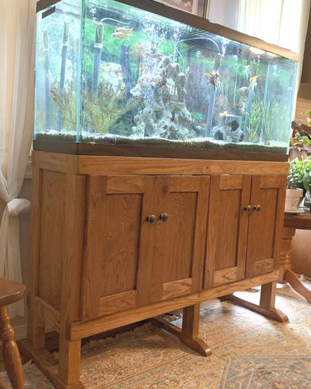 Mission Oak Aquarium Stand