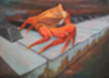 Crab on Piano Keys