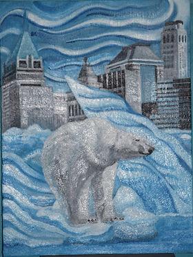 Polar Bear On Icecap