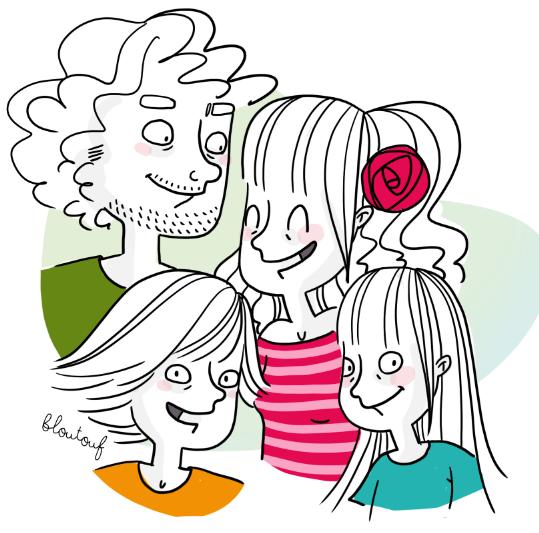 Famille (presque) Zéro Déchet - illustration ©Bloutouf