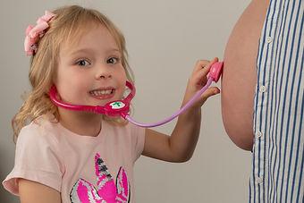 Bump Photo - Child, Kid, Cute, Fun, Belly, Pregnant, Maternal