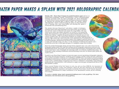 Hazen Paper Makes a Splash with 2021 Holographic Calendar!