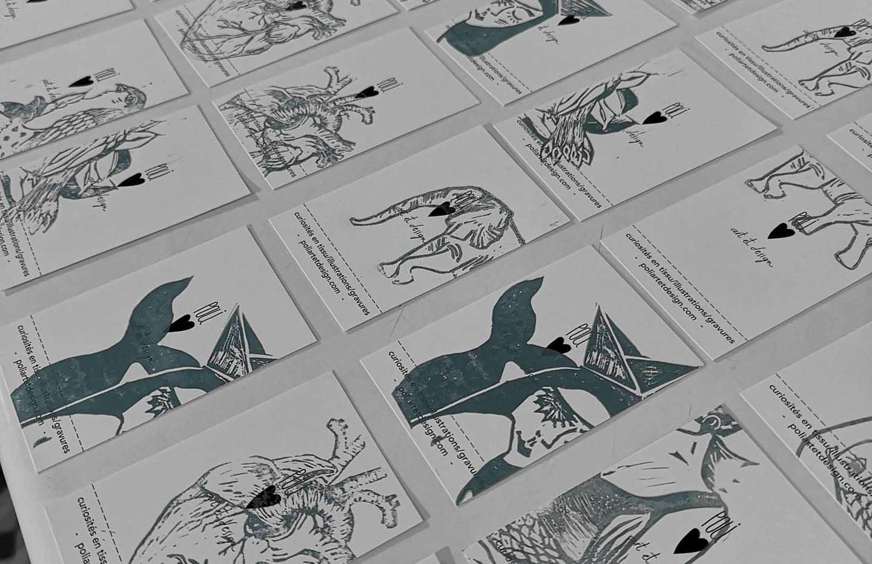 Gravure sur cartes