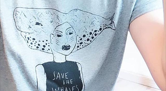 Illus sur T-shirt en coton bio
