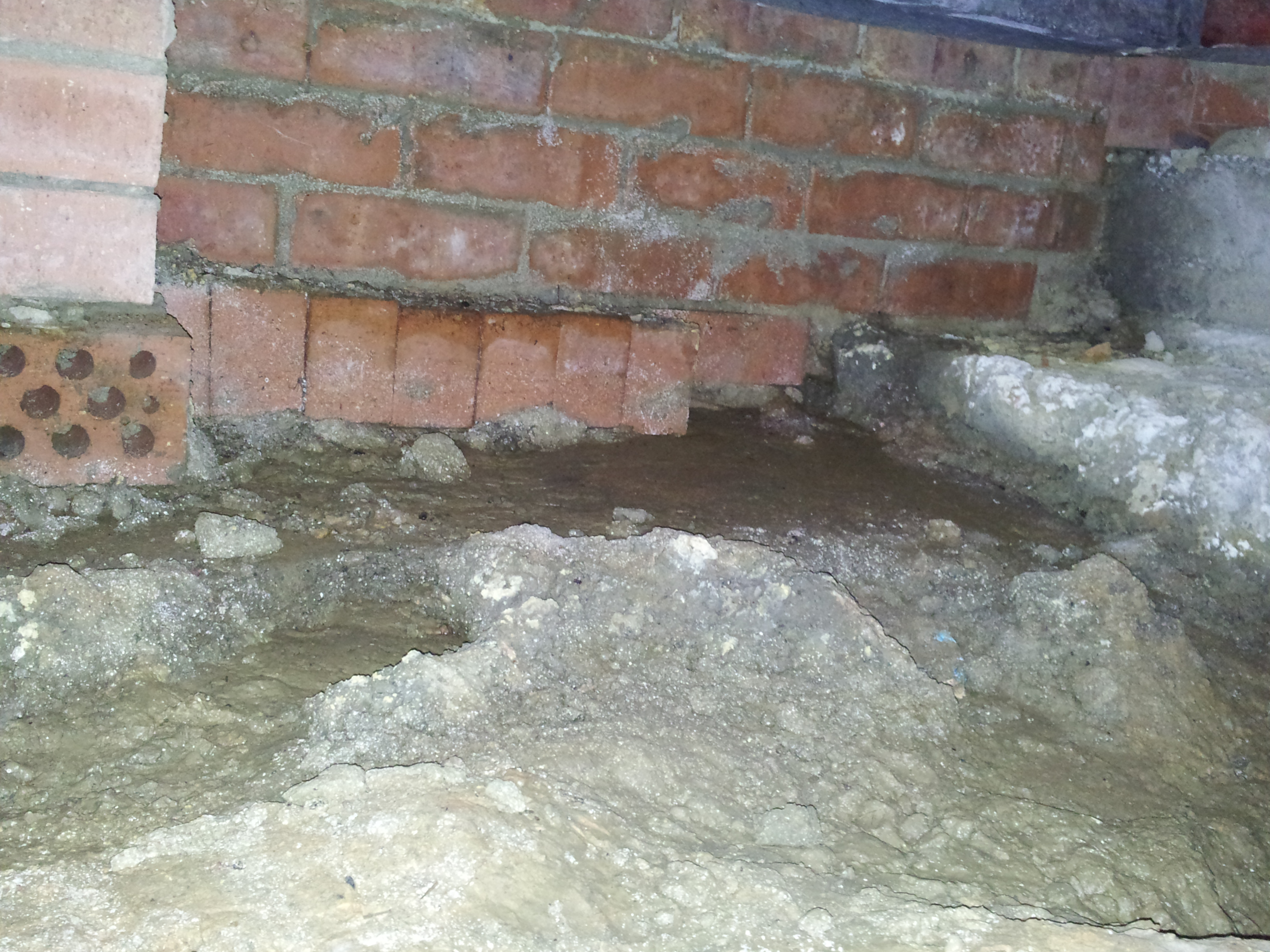 footings water ingress