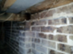 Rising damp - subfloor damp caused by rising damp from external higher ground