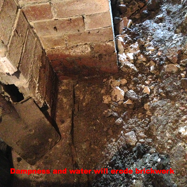 Eroding brickwork