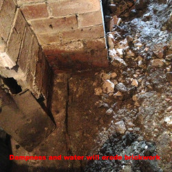 Eroding brickwork