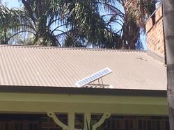 Solar panel for sub floor fan