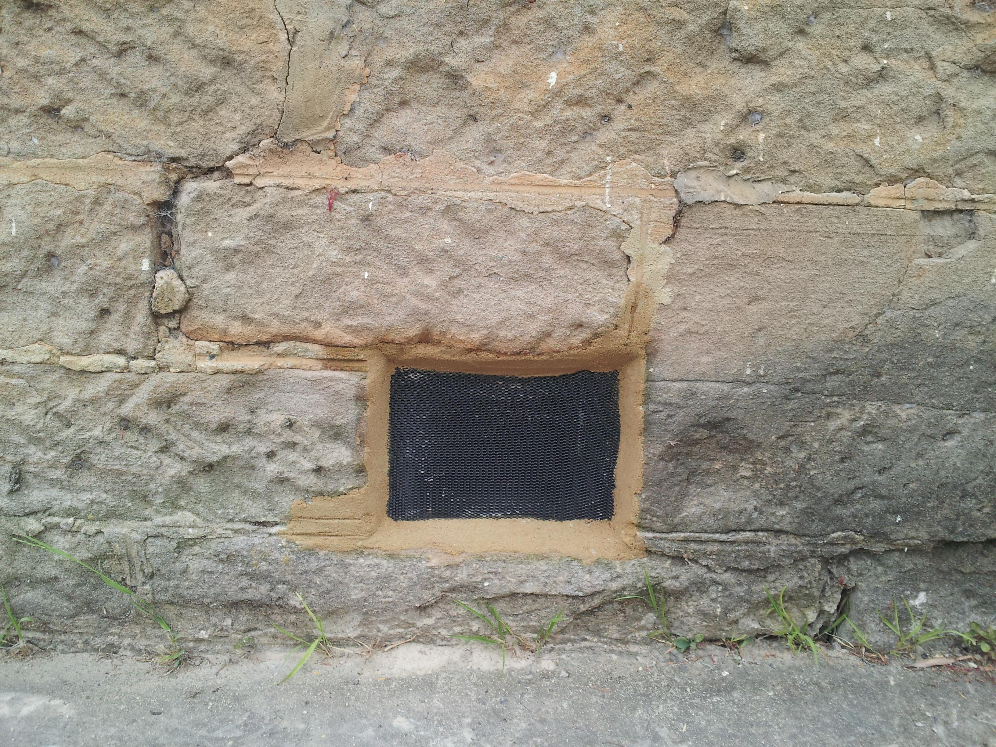 Sandstone dry vents