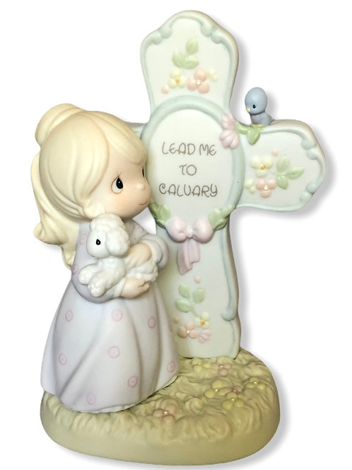 Precious Moments ......Lead Me To Calvery  {dated 1997 on back of cross}