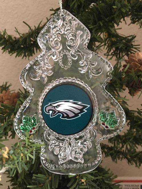 Eagles Acylic Tree - Cut Crystal Design Ornament