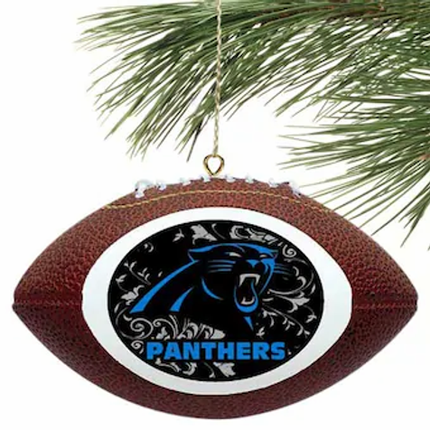 Panthers Replica Football Ornament