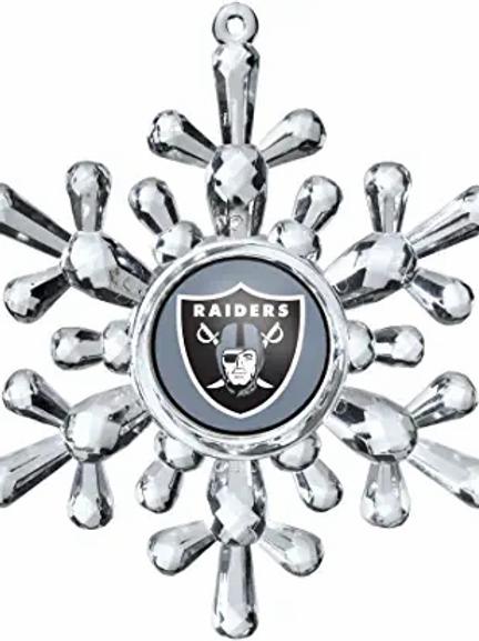 Raiders Acylic Snowflake - Cut Crystal Design Ornament