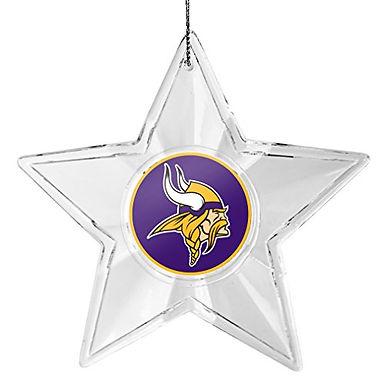 Vikings Acylic Star - Cut Crystal Design Ornament