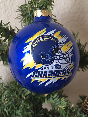 Chargers Helmet Ball Ornament