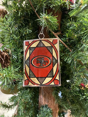 San Francisco 49ers Stained Glass Ornament