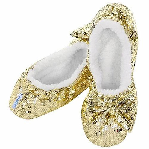 Snoozies Size Womens Large - Classic Gold Bling       179-99