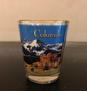 Colorado Mountain and High Plains Park Shot Glass